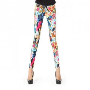 Front view of Colorful Abstract Leggings