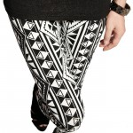 Thigh view of tribal geometric pattern