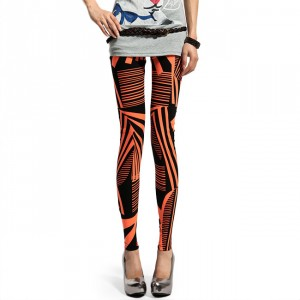 Front view of Patch Stripe Leggings