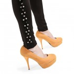 Ankle view of Spiked Side Leggings