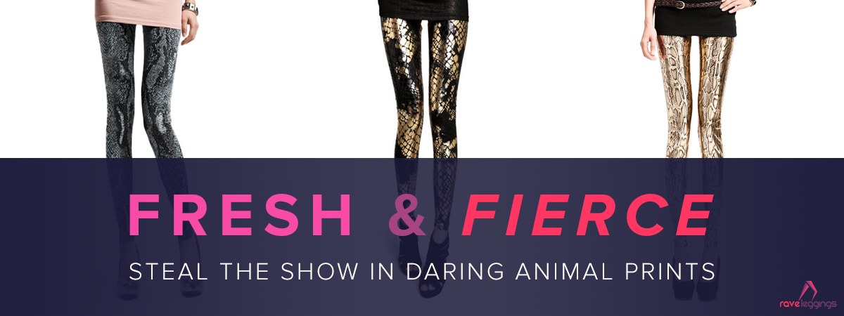 Animal print leggings in different colors & patterns